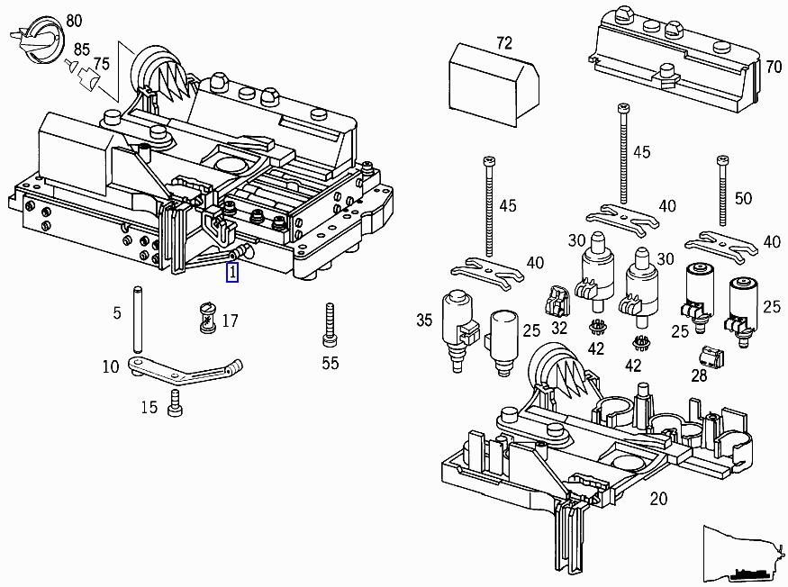 EZtuning: 關於賓士五速自排變速箱 編號:722.6,您應該知道的故障之二(齒輪系統與排檔電腦模組故障)
