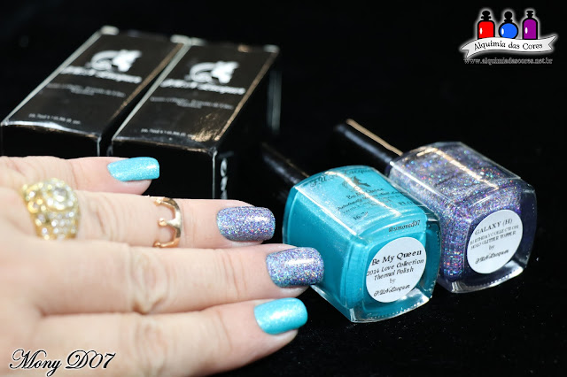 F.U.N. Lacquer, Blue Tears, 2015 Summer Collection, Azul Cobalto, Holográfico, Alê M., Starry Night of the Summer, Summer 2016 collection, Blue, Holo, Be my Queen, Galaxy H, Love Collection, Birthday Collection,