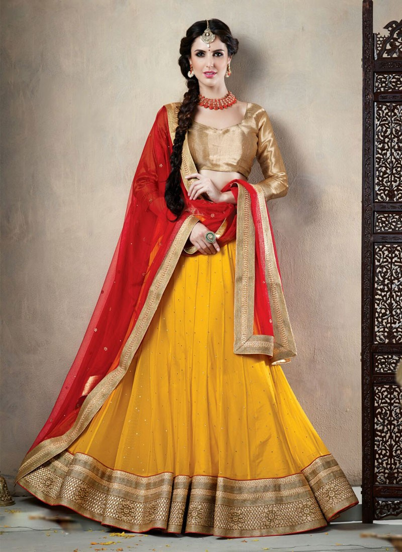 5 Stunning Yellow Lehenga's for Wedding Functions