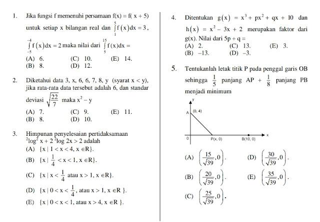 soal utbk matematika saintek