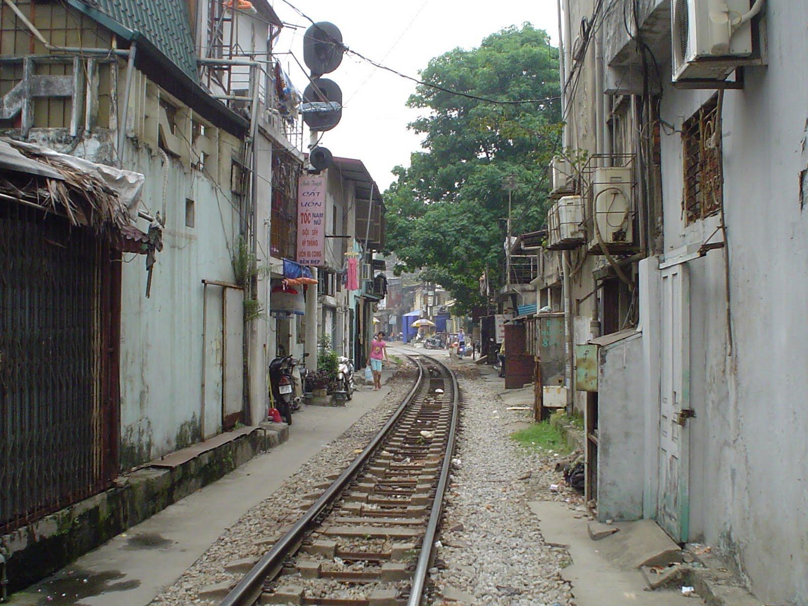 Railroad Tracks Night