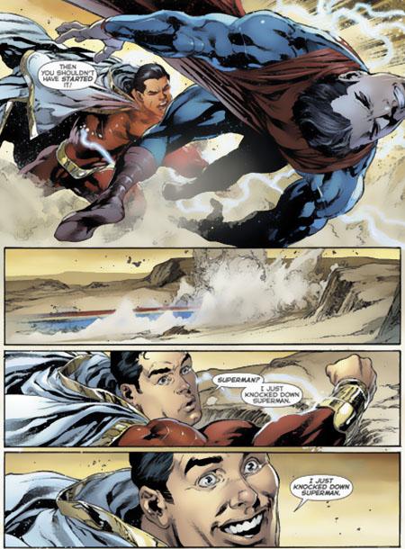 Shazam peleando de nuevo por primera vez