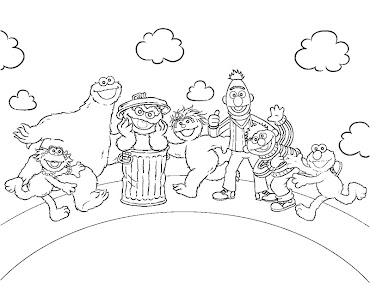 coloring pages of sesame street characters - 1 sesame street coloring page