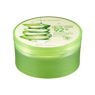 Nature Republic Aloe Vera adalah produk Moisture dan Shoothing Gel yang mengandung 92% ekstrak lidah buaya yang diproduksi di Korea. Produk ini booming di pasaran karena manfaatnya yang banyak dan produknya terbuat dari bahan-bahan alami.