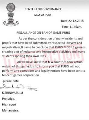 Order Of PUBG Banned From Court