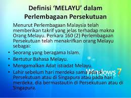 Diary Semasaku Definisi Melayu Dalam Perlembagaan