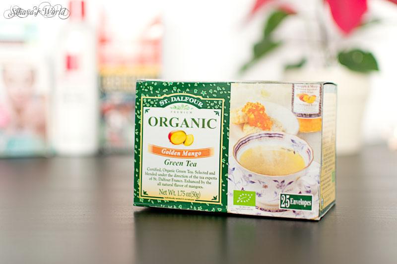 comanda iHerb ceai verde St Dalfour Golden Mango Green Tea
