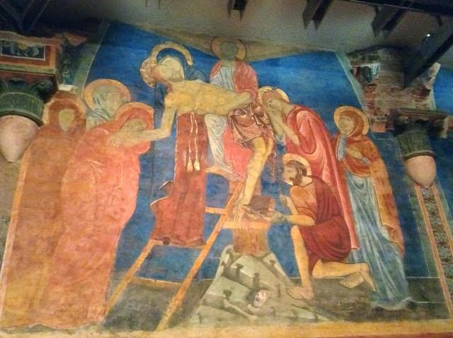 Siena: affresco Cripta