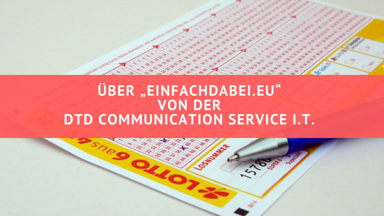 """Titel: Über """"Einfachdabei.eu"""" von der DTD Communication Service I.T."""