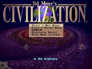 Civilization 1 menu