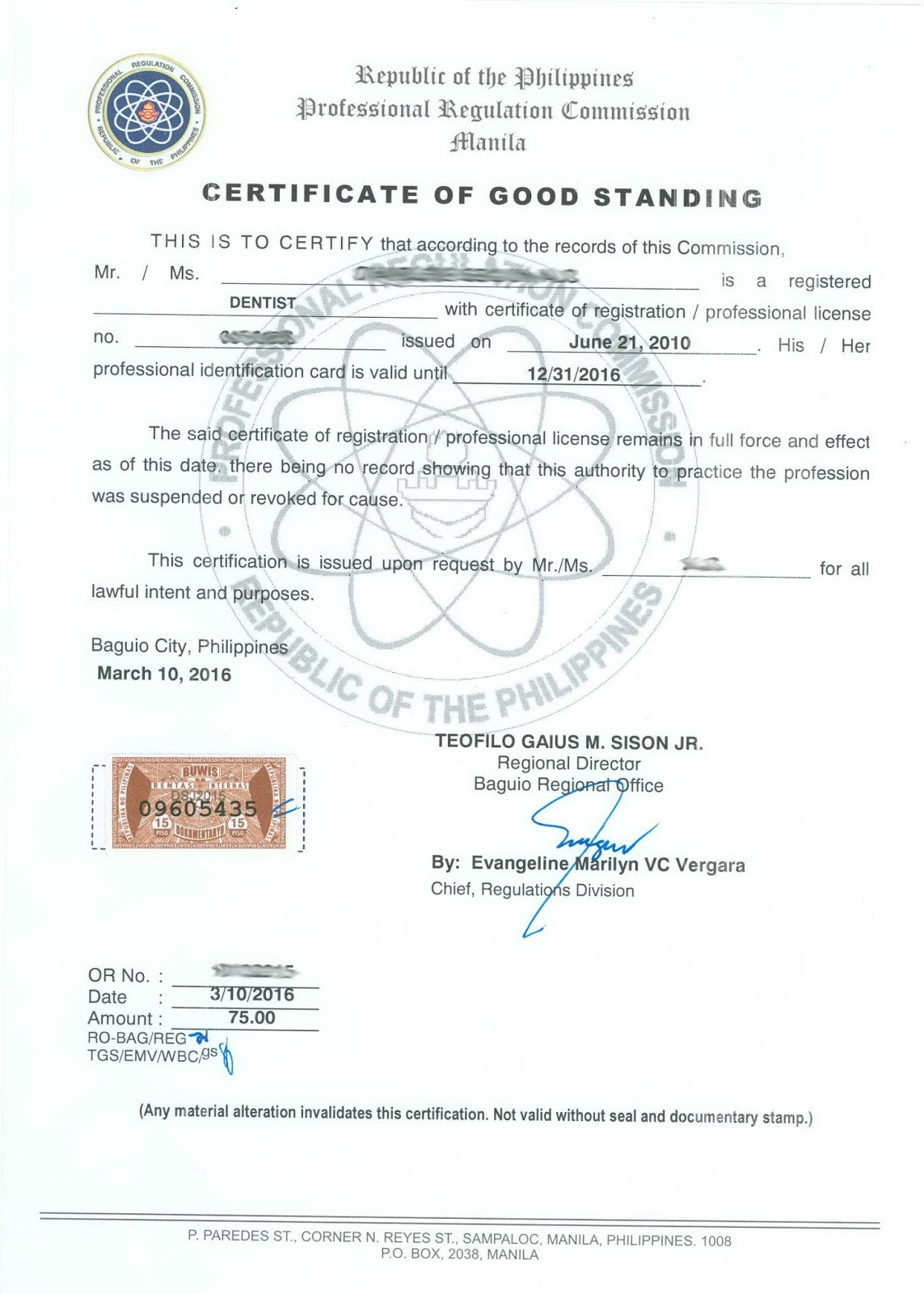 Prc baguio information site certification and authentication certificate of good standing cgs yelopaper Image collections