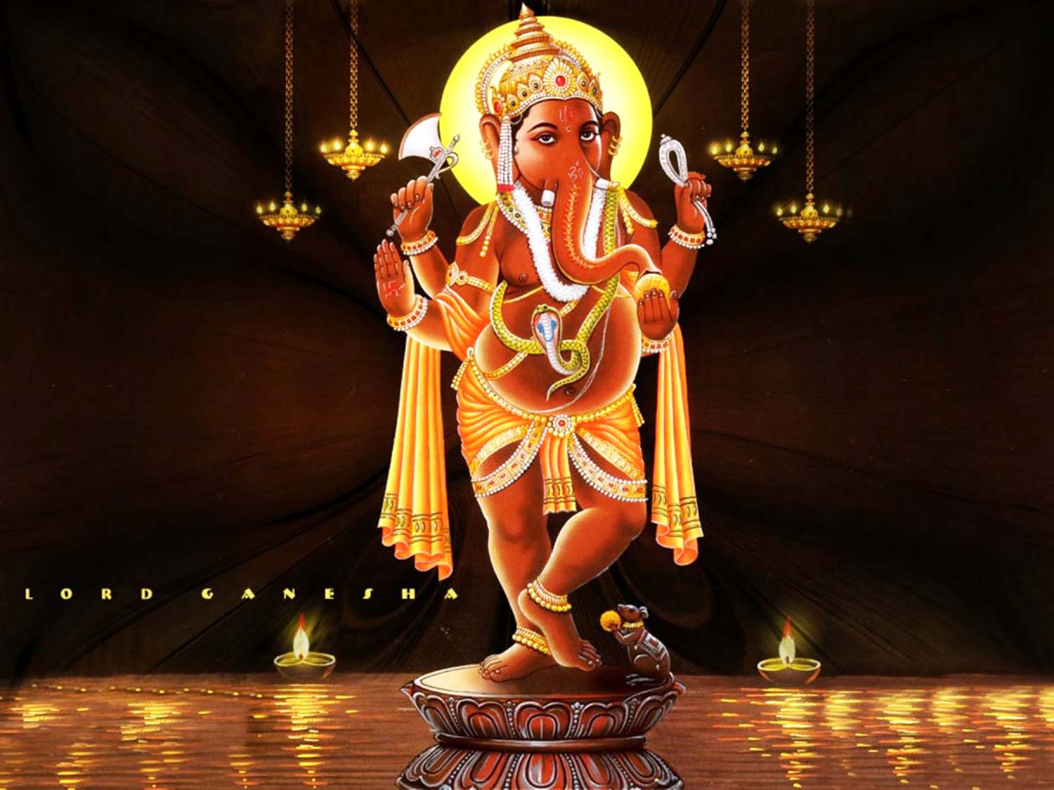 Standing Lord Ganesha pic!