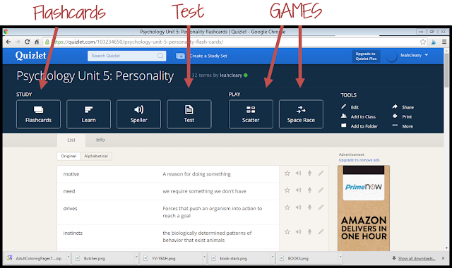 Vocabulary review is not the most riveting activity; we all know that--and so do our students. This is where Quizlet comes to the rescue to make it more fun. I describe three different, engaging, and useful ways that you can use Quizlet to review vocabulary for upcoming assessments in this post.