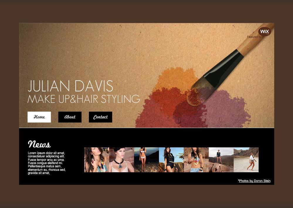 website artist makeup portfolio template artists templates web designs google wix websites themes idea melanie called discover