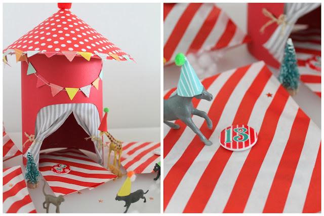 Adventszirkus Vorglitzern DIY Zirkus Adventskalender Jules kleines Freudenhaus