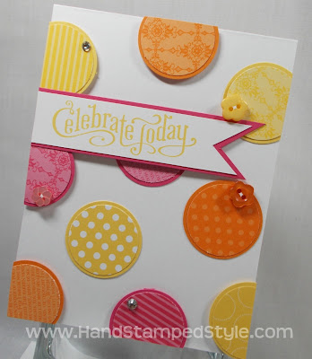 Perfectly Penned Circle Punch Card