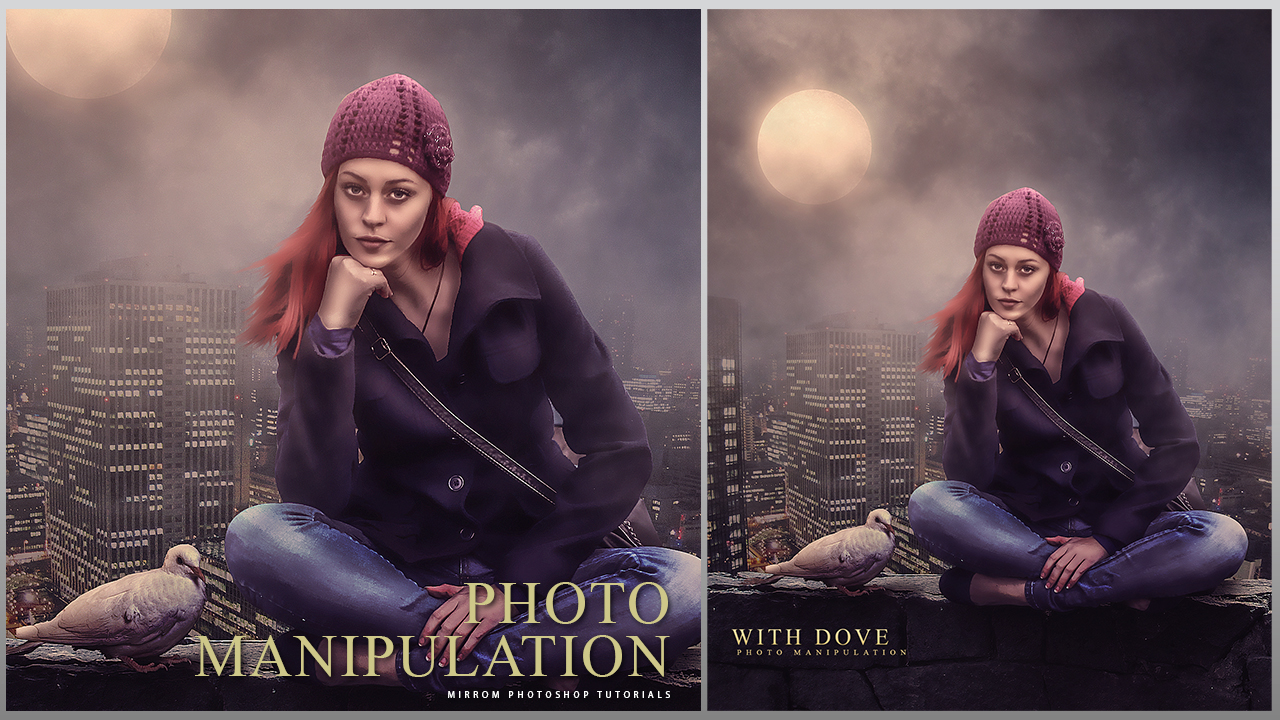 An Beautiful With Dove Scene Photo Manipulation - Photoshop Tutorial