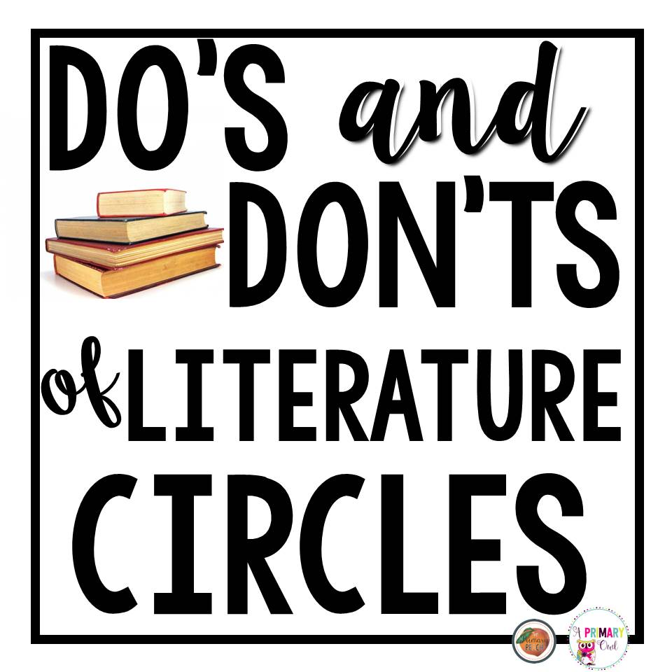 Workbooks literature circles roles worksheets : The Primary Peach: The Do's and Don't of Literature Circles