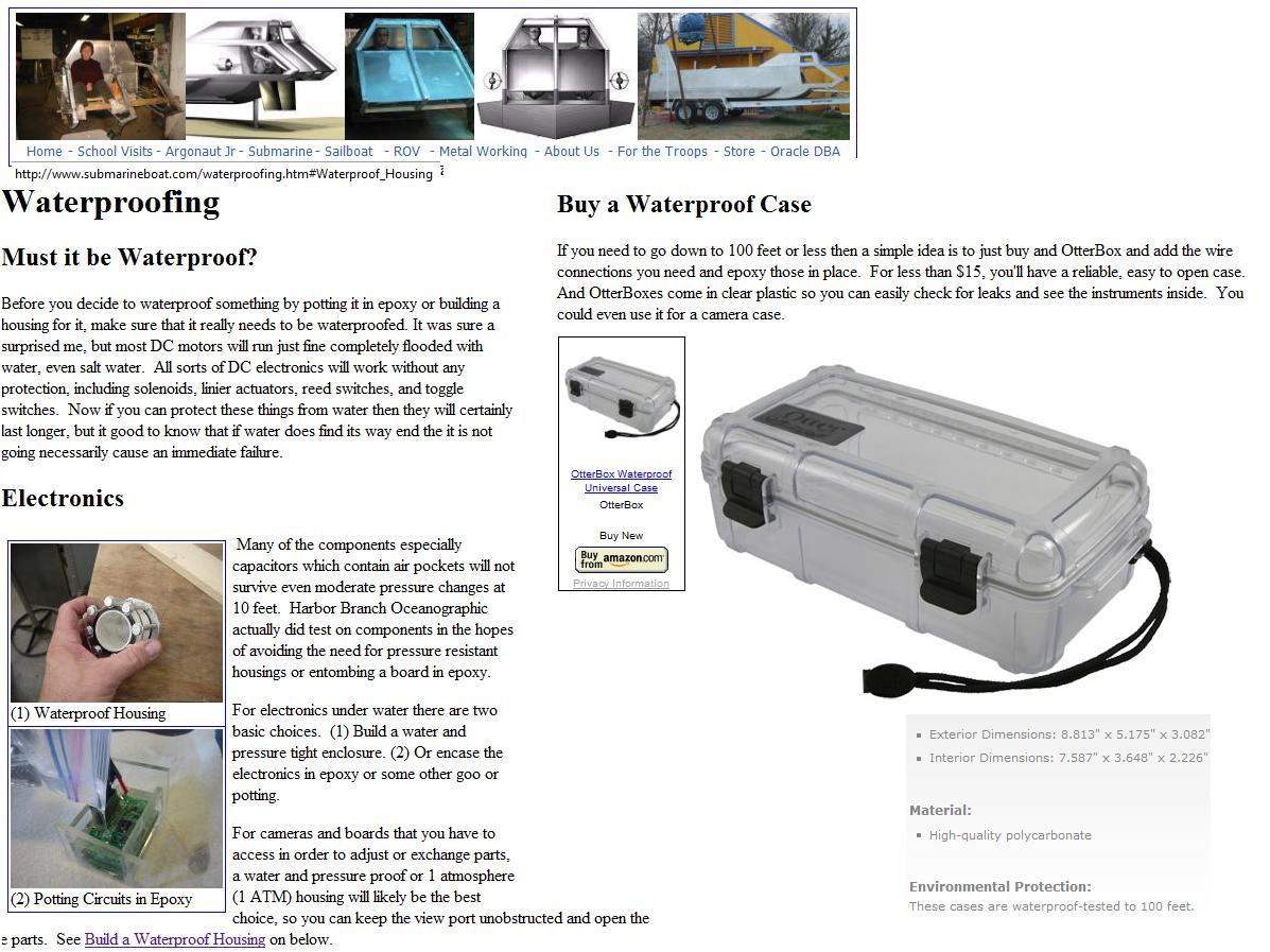 RC SE2 Underwater ROV: Summer Research / Brainstorming