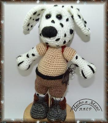 Вязаная собака далматинец амигуруми