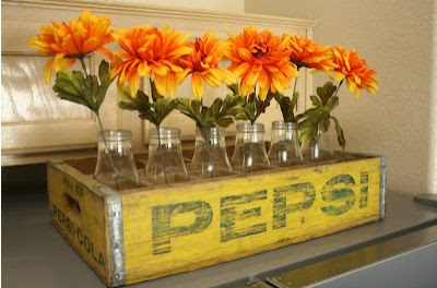 Vintage Soda Crate Decorating