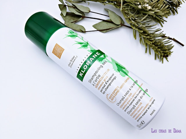 Klorane Champú seco ortiga cabello graso castaño oscuro pierre fabre farmacia