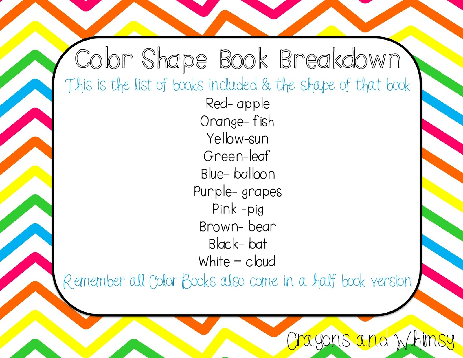 Color Shape Book Fun With A Freebie