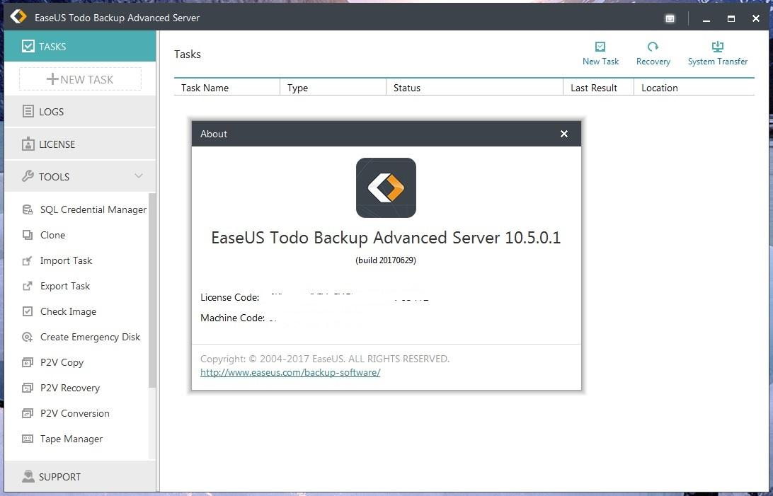 easeus todo backup free 10.0 key