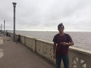Passeando na margem do rio Plata em Buenos Aires