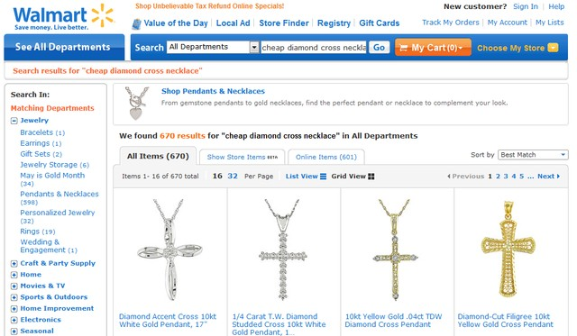Inexpensive Cross Necklaces