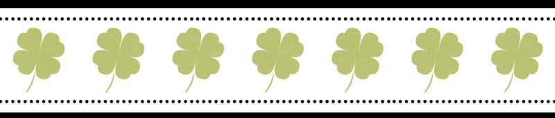 4 Leaf Clover Corner Border