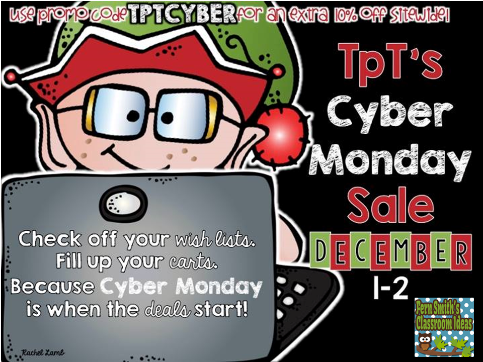 Fern Smith's Classroom Ideas TPT Store's 28% off on Cyber Monday. Use promo code TPTCYBER.