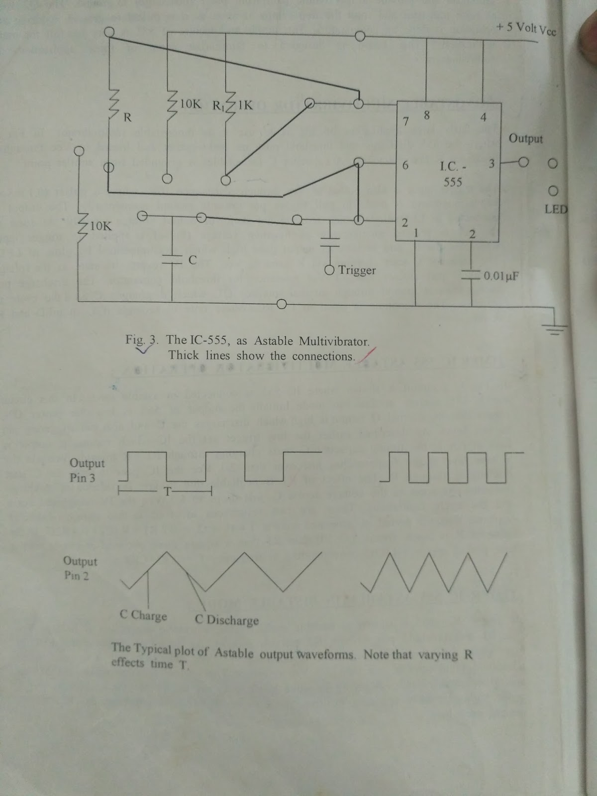 Some Related Things For Engineering Students Practical Files And 555 Timer Ic As Astable Multivibrator 2 Study Of