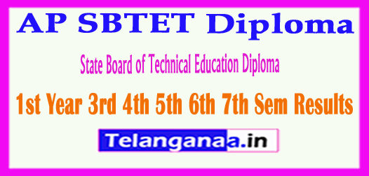 AP SBTET State Board of Technical Education Diploma 1st Year 3rd 4th 5th 6th 7th Sem 2018 Results
