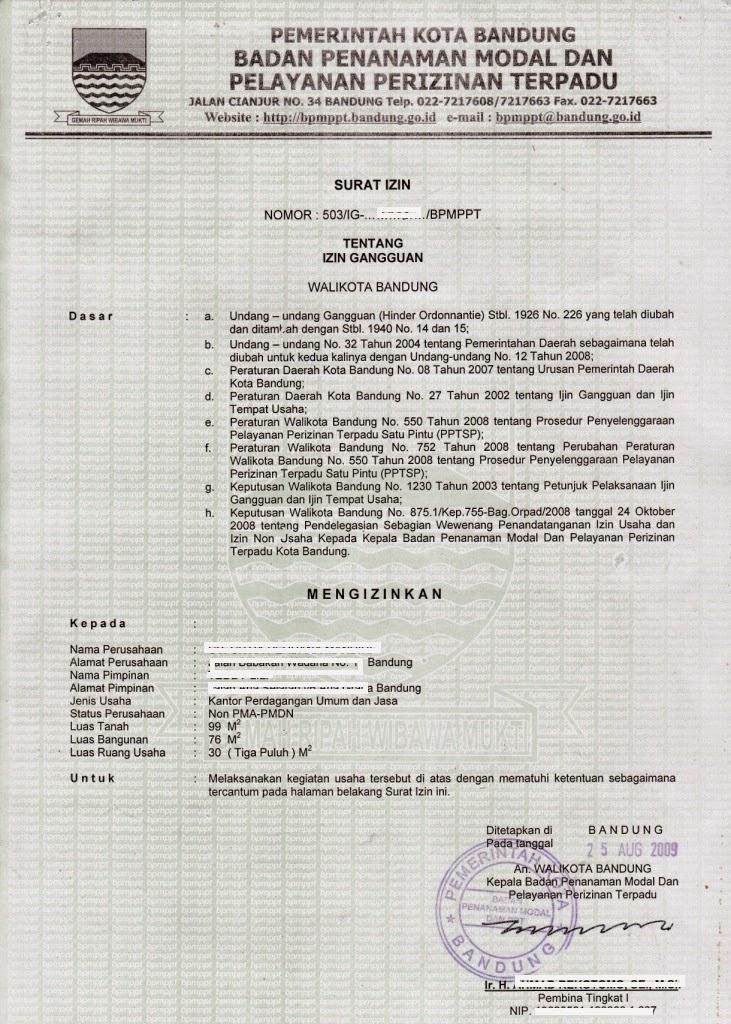 Mega-BiroJasa Bandung- SIUP TDP HO