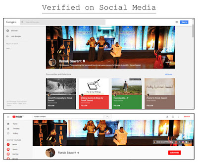 Bucket List - #54 Get a verification badge on Social Media - Ronak Sawant
