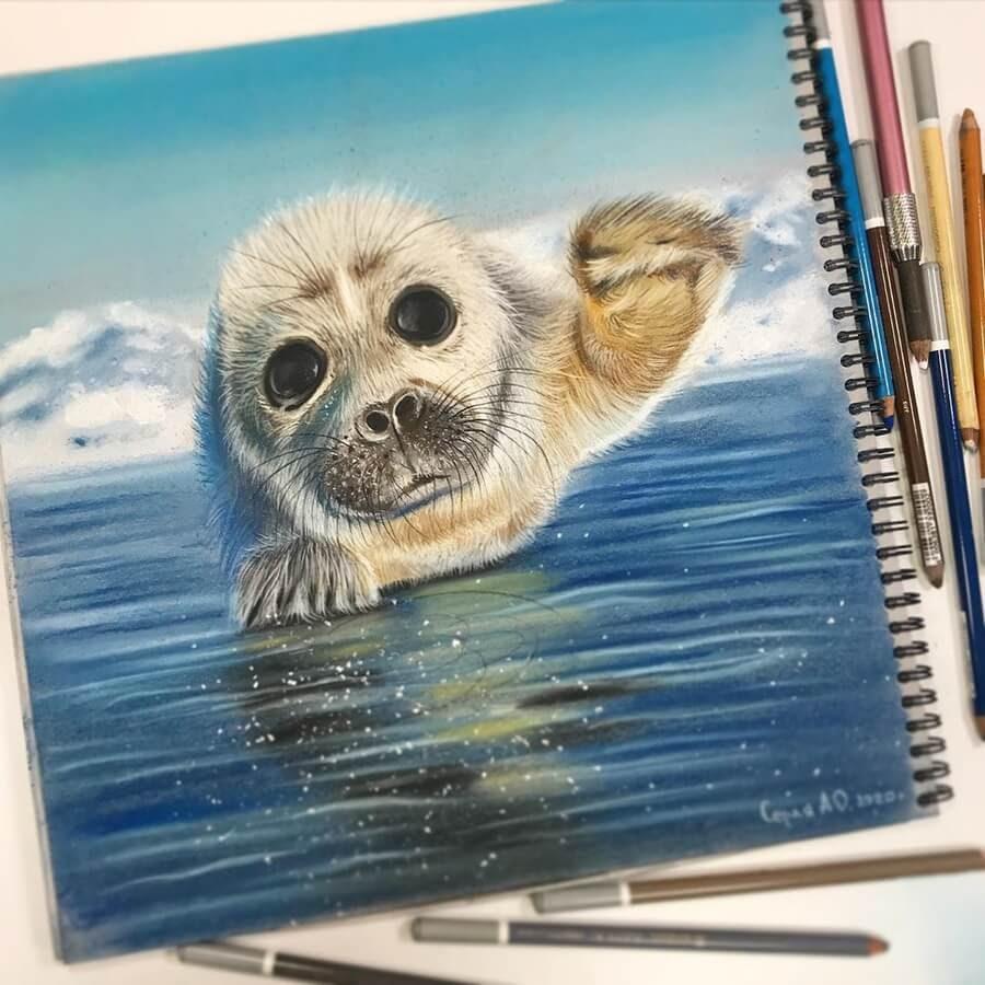 06-Seal-Puppy-Cute-Animals-Анастасия-Серая-www-designstack-co