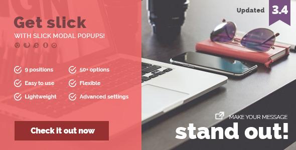 Slick Modal – CSS3 Powered Popups Javascript Plugin | Free Premium