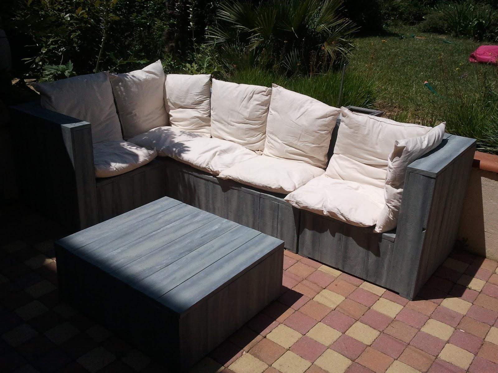salon de jardin en palette couleur. Black Bedroom Furniture Sets. Home Design Ideas