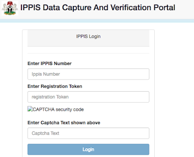 IPPIS Verification Form Download 2018