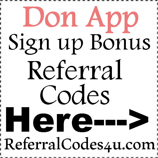 Don App Referral Codes 2016-2017, Don App Sign Up Bonus, Don App Reviews