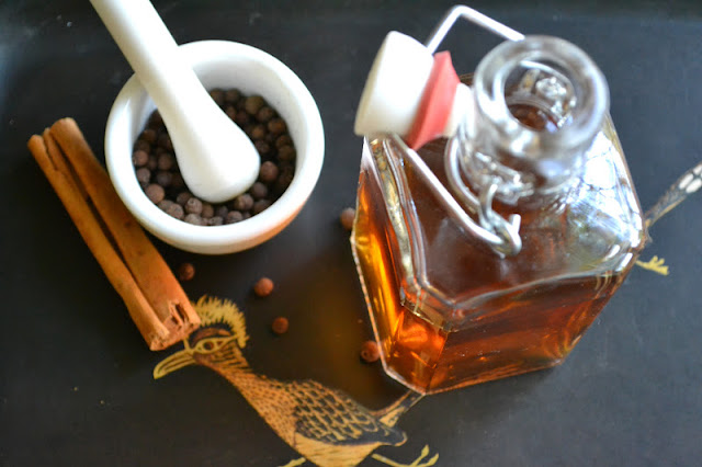 homemade allspice dram with spices
