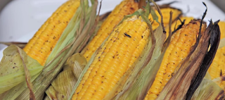 African Street Food Fresh Grilled Gingered Corn