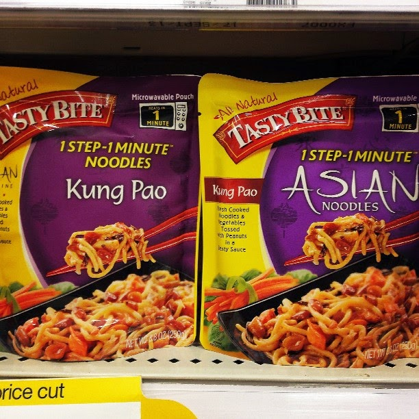 Vegan Target Ready-to-Eat Tasty Bite Kung Pao and Asian Noodle Dishes