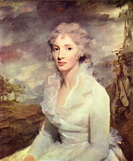 Sir Henry Raeburn, Scottish portrait painter, managed to subtley use square touch