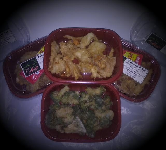 Jamur crispy dan brokoli crispy sebagai menu sehat.