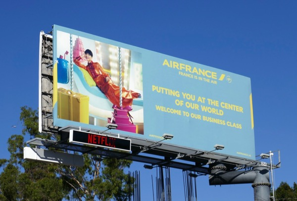 Air France Business class billboard