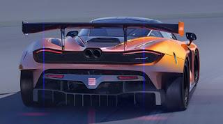 McLaren 720S GT3 2019 (Rendering) Rear