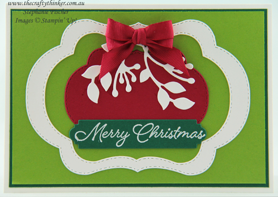 #thecraftythinker  #stampinup  #xmascard  #blendedseasons  #cardmaking , Christmas Card, Xmas, Blended Seasons, Stitched Seasons, Stampin' Up Australia Demonstrator, Stephanie Fischer, Sydney NSW