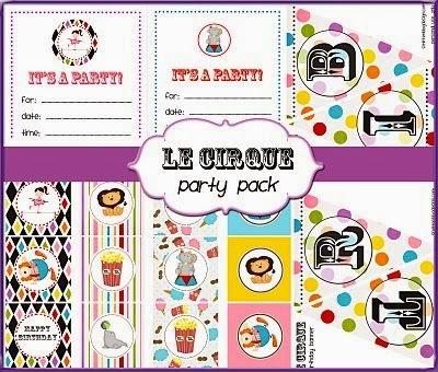 Circus Party Free Printable Mini Kit.